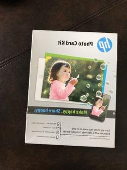 """HP Photo Card Kit SF791A for Inkjet Printers 10-5x7"""" with En"""