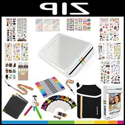 Polaroid ZIP Mobile Printer Gift Bundle ZINK 9 Unique Colorf