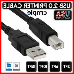 Printer Cable USB 2.0 A to B A Male to B Male for HP Cannon