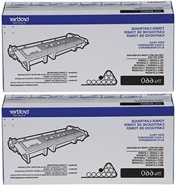 Brother Printer TN660 High Yield Toner Reseller 2-Pack