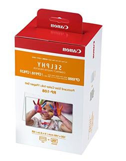 Canon RP-108 Color Ink/Paper Set, Compatible with SELPHY CP9