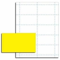 Solar Yellow Business Card Printer Paper – 50 Sheets
