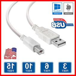 For Epson,HP,Canon,Brother,Lexmark /& Oki USB 2.0 Printer Cable Cord A-B 6FT