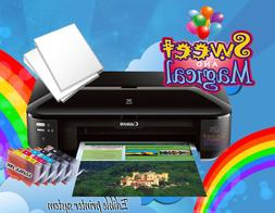 CANON WIDE FORMAT XTRA LARGE EDIBLE  PRINTER ,INK & 6 Edible