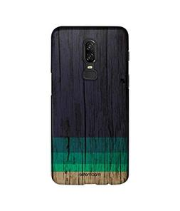 Wood Stripes Blue - Sublime Case for OnePlus 6