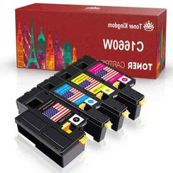 4 Pack High Yield 1660 Toner Cartridges Set For DELL Laser C